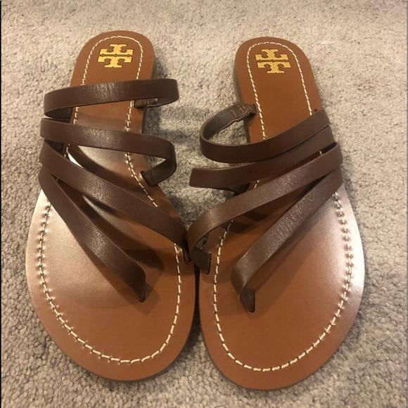 Tory Burch Patos Flat Sandal -Calf Leather